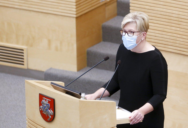 I. Šimonytė įvardino naujosios Vyriausybės darbo principus