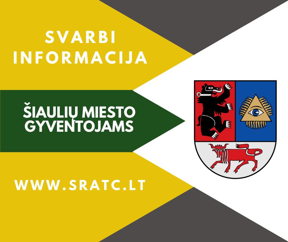 Dėl vietinės rinkliavos už komunalinių atliekų surinkimą ir tvarkymą atleidimų ir lengvatų Šiaulių mieste taikymo