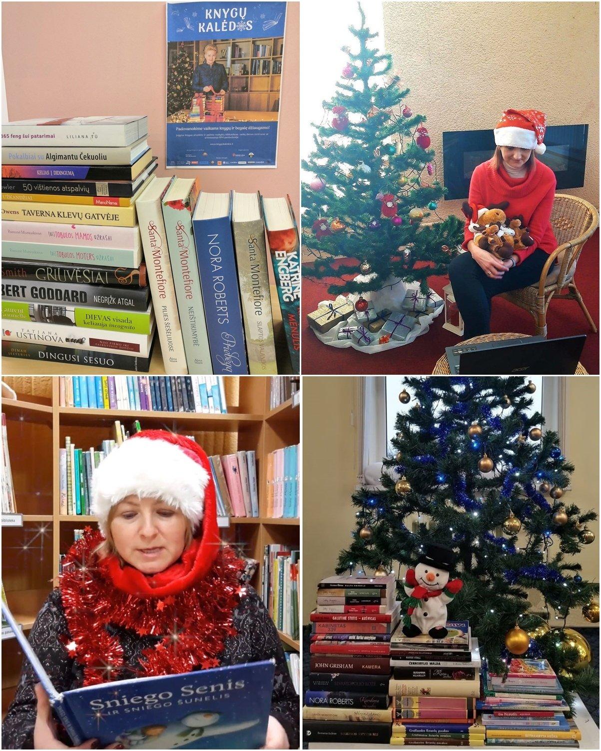 """Akcija """"Knygų Kalėdos"""" Panevėžio Elenos Mezginaitės viešojoje bibliotekoje"""