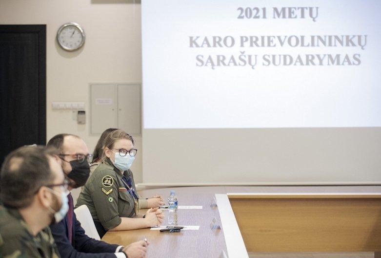 Paskelbti 2021 m. karo prievolininkų šaukiamųjų sąrašai