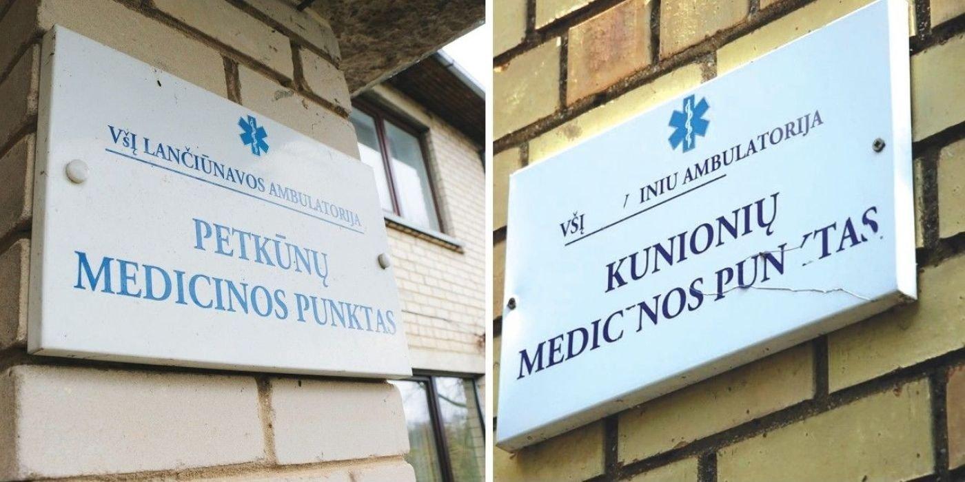 Koks likimas laukia medicinos punktų?