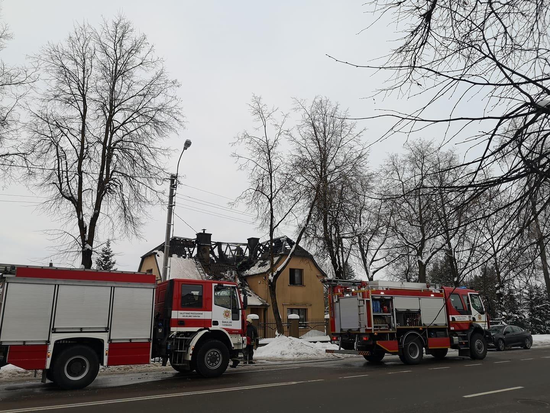 Šiauliuose degė gyvenamasis namas