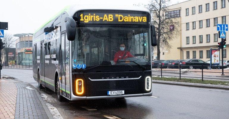 Šią savaitę Alytuje testuojamas elektrinis autobusas