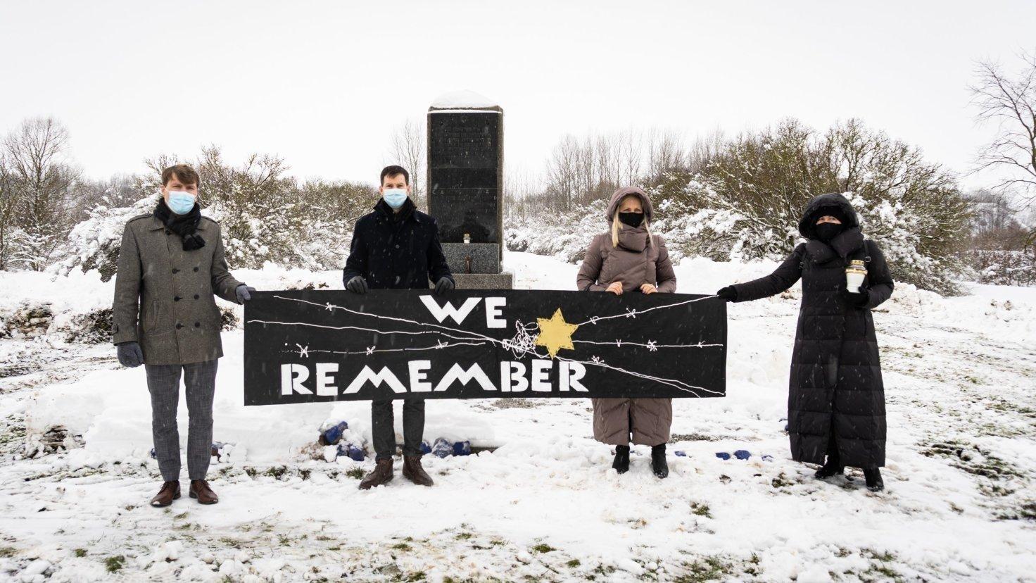 Pagerbtas Holokausto aukų – Marijampolės žydų atminimas