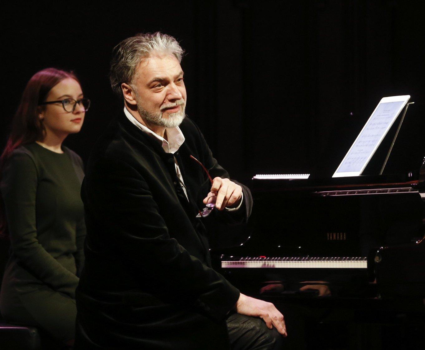 G. Nausėda pasveikino pianistą P. Geniušą jubiliejaus proga