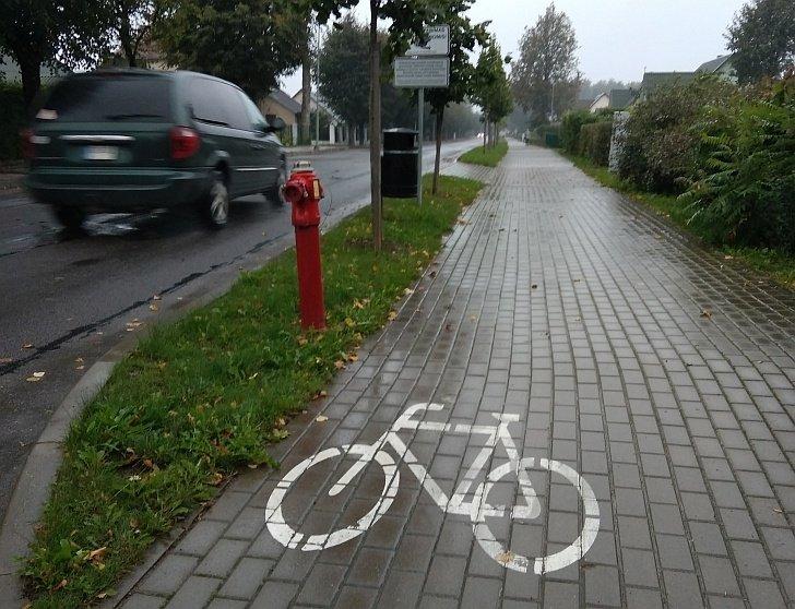 Šiaulių kaimo dviratininkai jiems skirto tako lauks beveik šimtą metų
