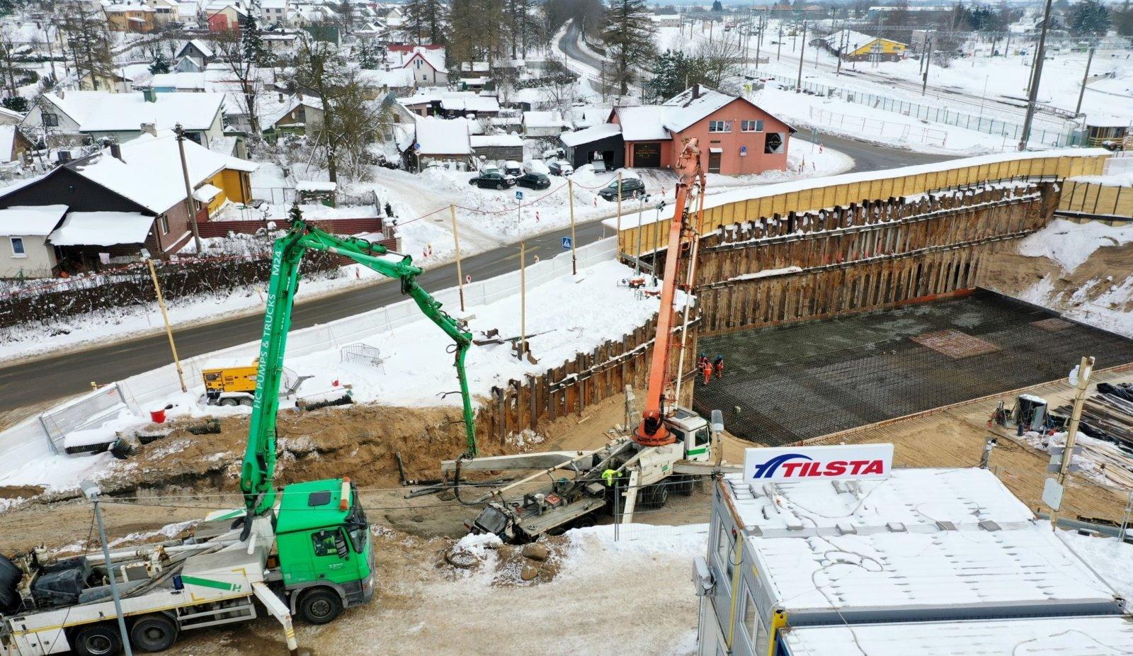 Lentvario pervažos rekonstrukcija vyks nauju būdu: tunelį įrengs nestabdant traukinių