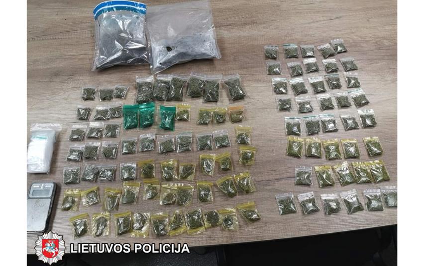 Marijampolės pareigūnai surengė dvi sėkmingas narkotinių medžiagų platintojų sulaikymo operacijas