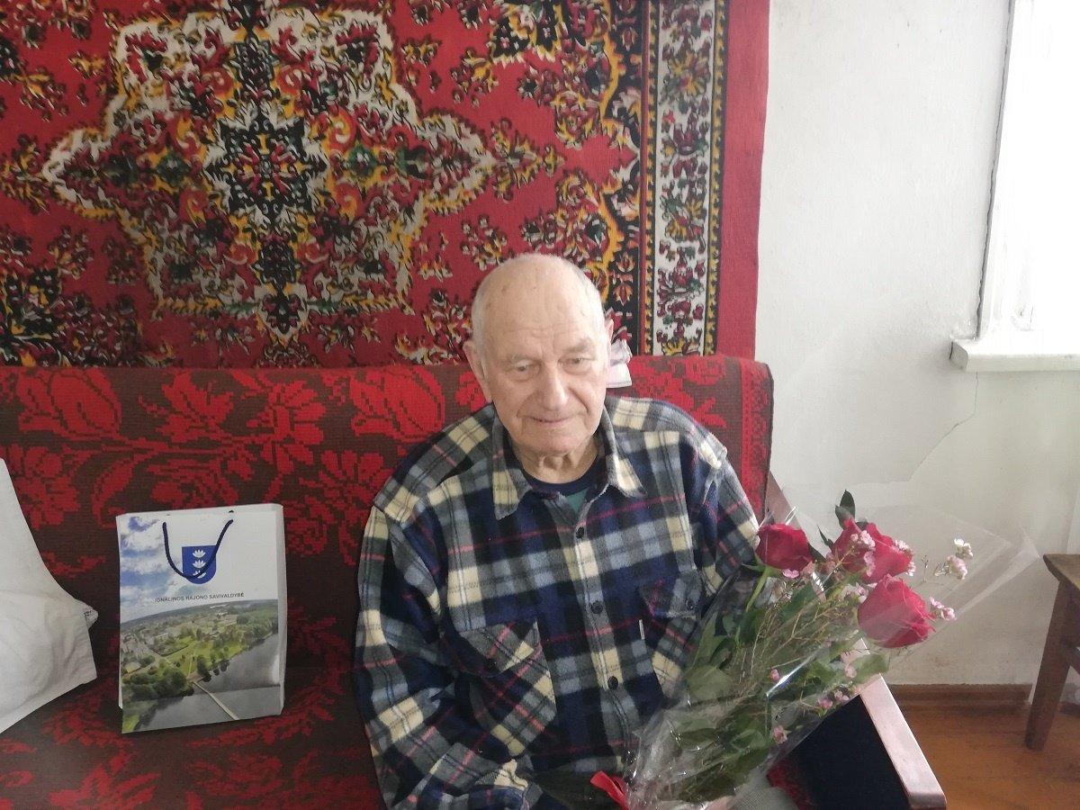 90-mečio proga pasveikintas Benediktas Bajarūnas