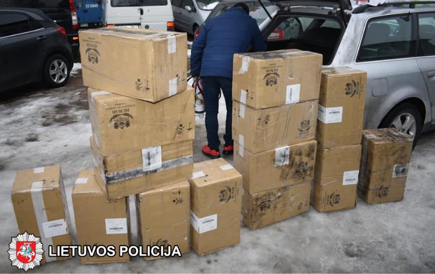7000 pakelių kontrabandinių cigarečių rinkos nepasiekė