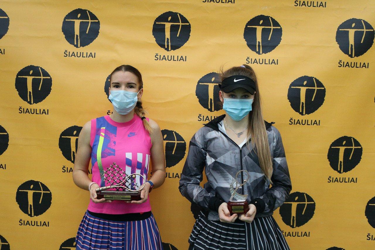Tarptautinio jaunių teniso turnyro nugalėtojais Šiauliuose tapo čekas ir rusė