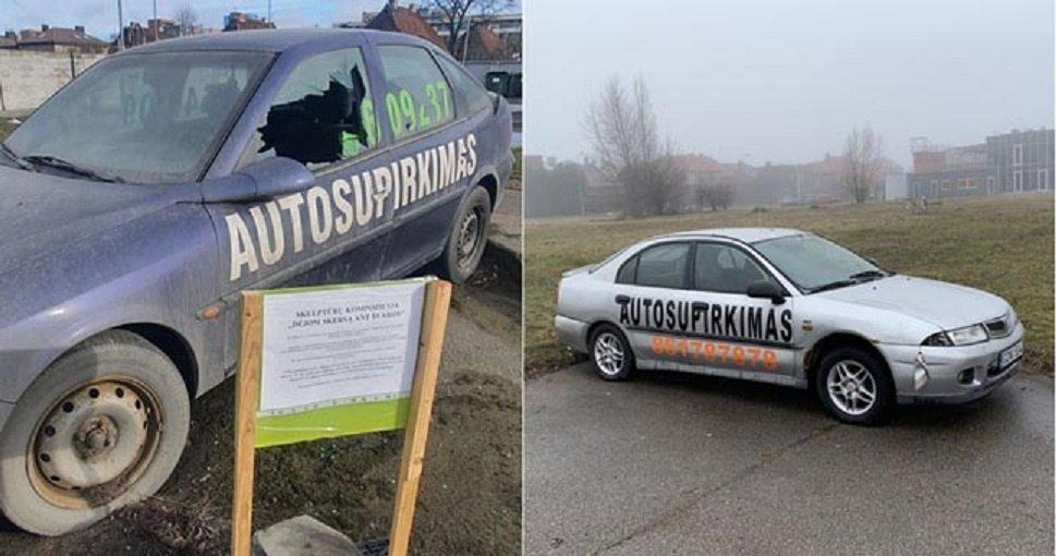 Reklaminius automobilius patraukti nelengva