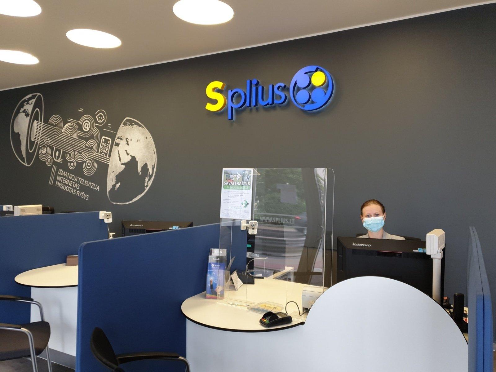 """Švelninant karantiną veiklą pradėjo """"Splius"""" klientų aptarnavimo skyriai"""
