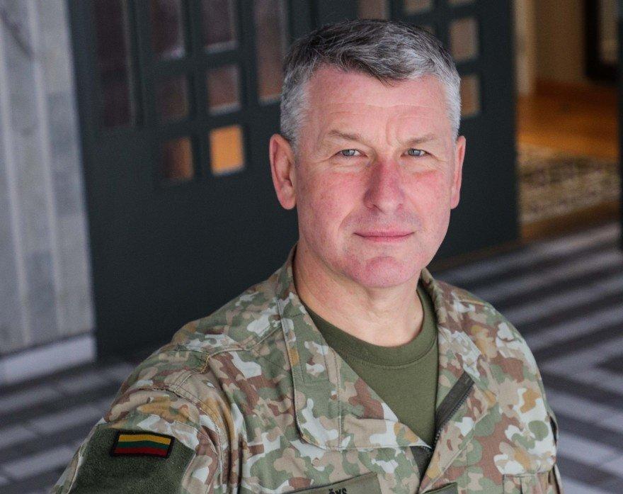 Lietuvos kariuomenės vadui V. Rupšiui patvirtintas COVID-19