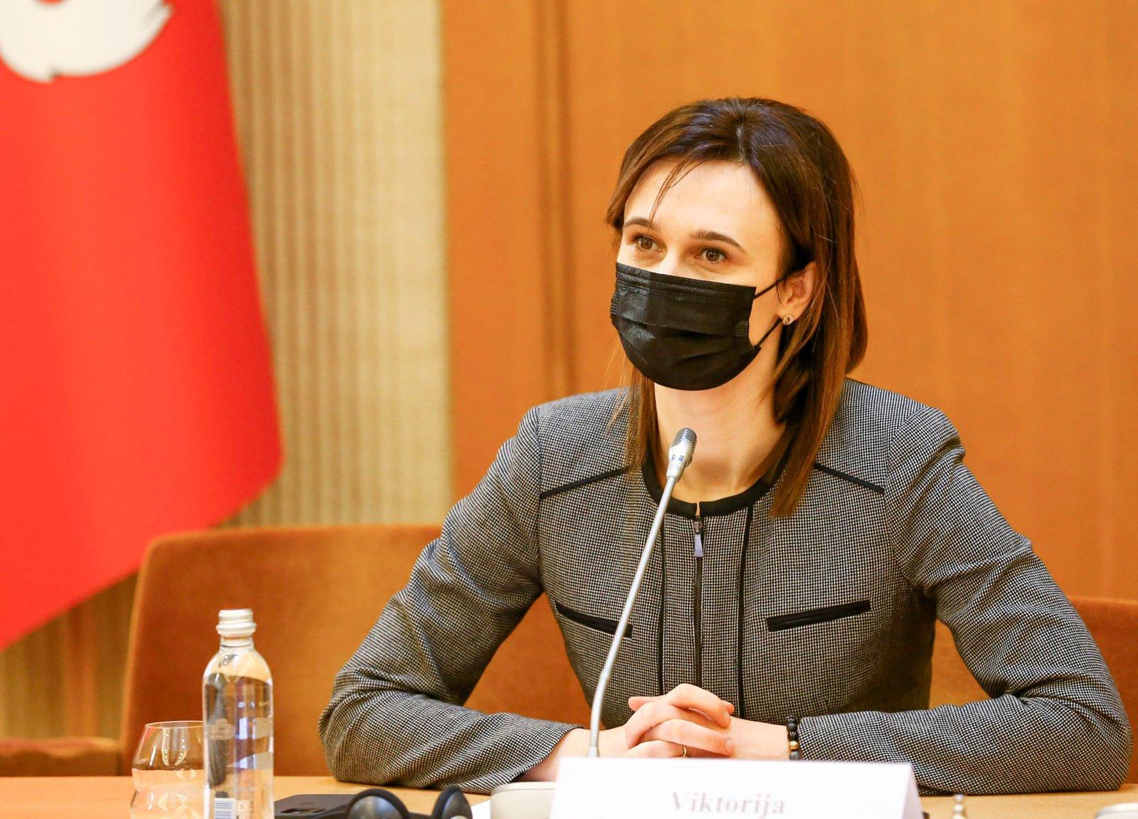 V. Čmilytė-Nielsen apie protestą prie Seimo: jie tai daro mažomis grupelėmis, viskas yra tvarkoje