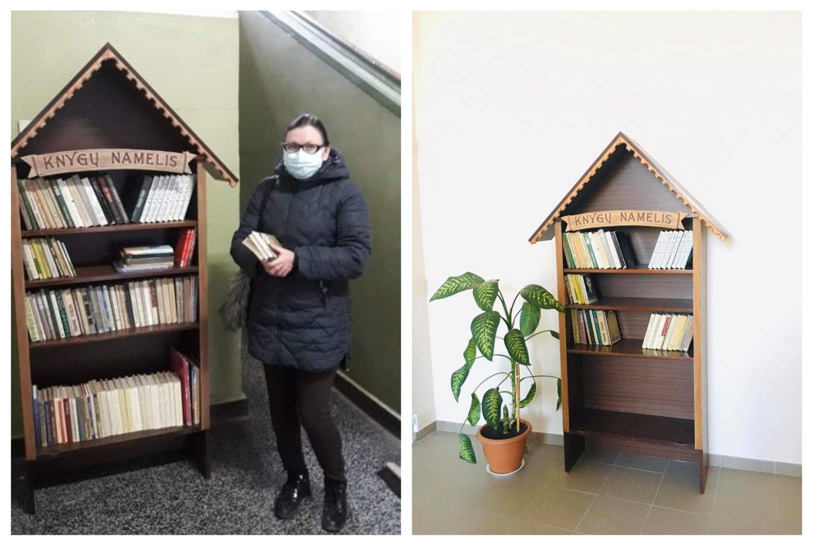 Knygų namelis skatins ne tik skaityti, mainytis, bet ir dovanoti jau perskaitytas knygas