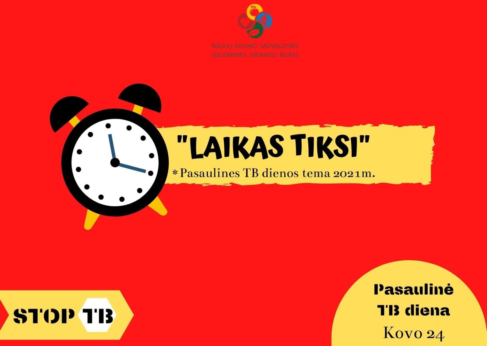 Kovo 24-ąją minima Pasaulinė tuberkuliozės diena