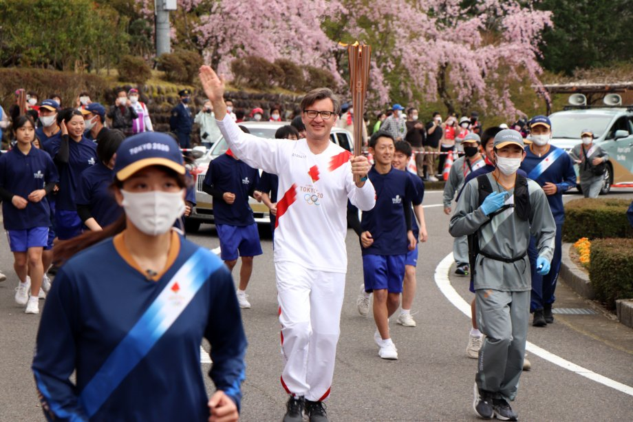 Olimpinį deglą nešęs ambasadorius G. Varvuolis: bėgdamas galvojau apie Lietuvos sportininkus