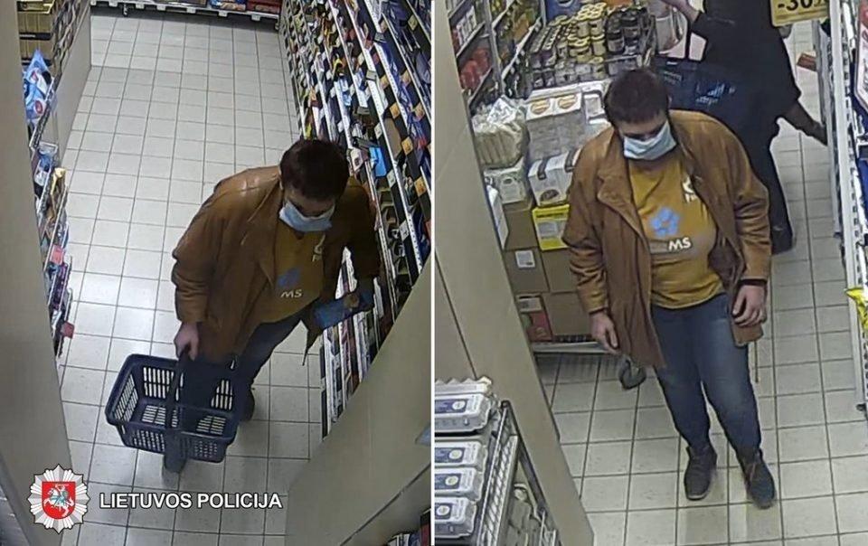 Panevėžio policija ieško iš parduotuvės įvairių prekių pavogusios moters