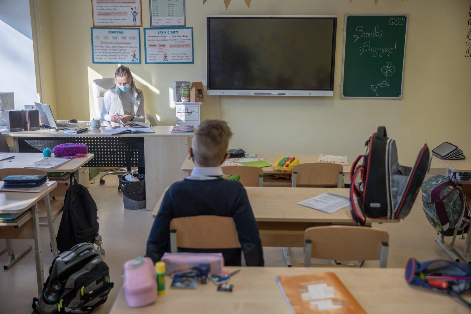 Į klases grįžo dar 8 tūkstančiai pradinukų, iš viso mokyklas lanko 71 tūkstantis