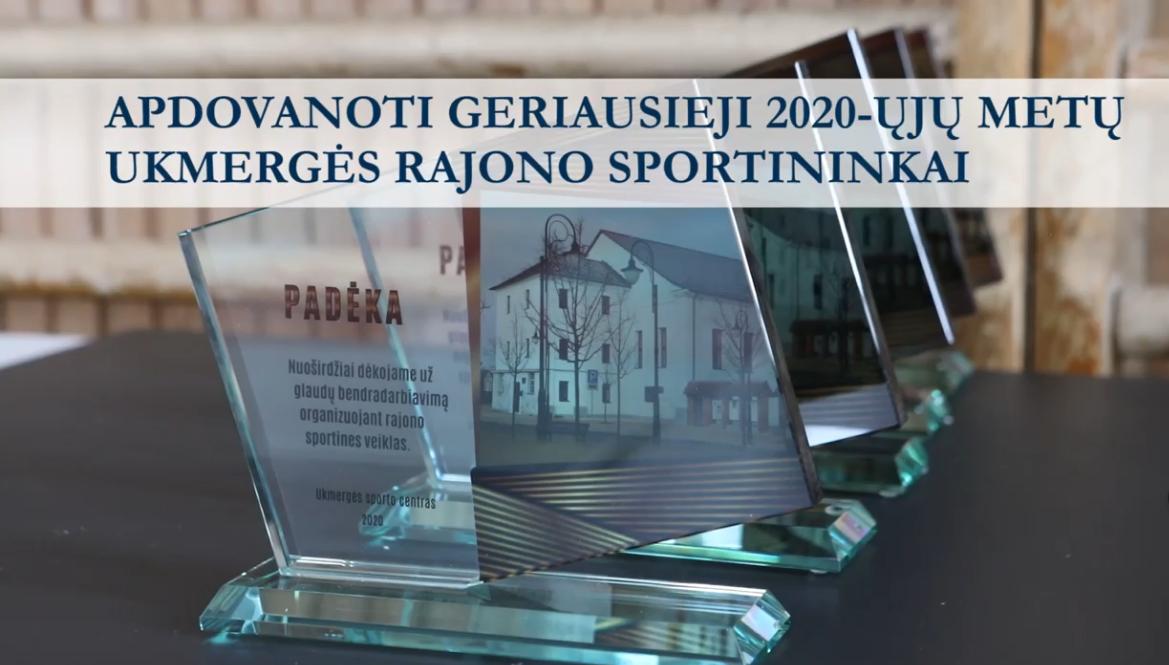 Apdovanoti geriausi 2020-ųjų Ukmergės rajono sportininkai ir jų treneriai