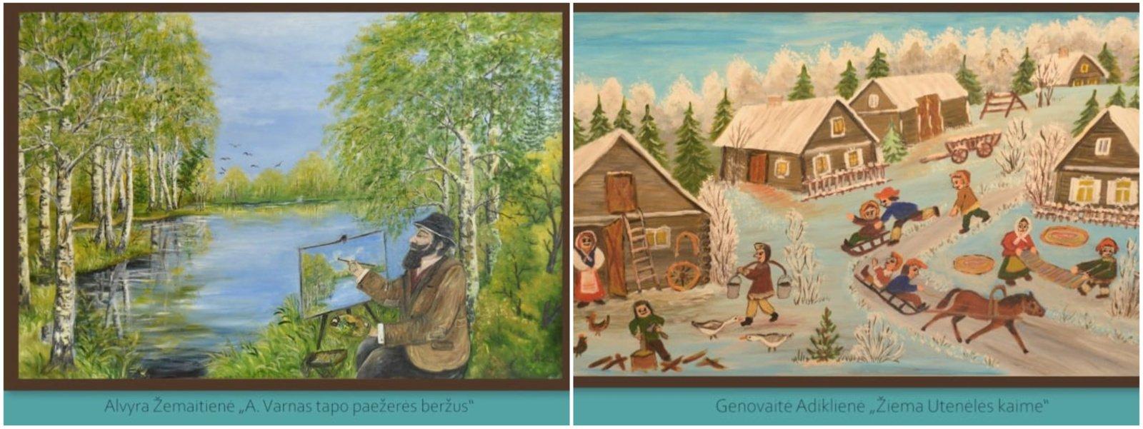 Uteniškiai tautodailininkai – XX-ojoje respublikinėje tautodailininkų tapybos parodoje