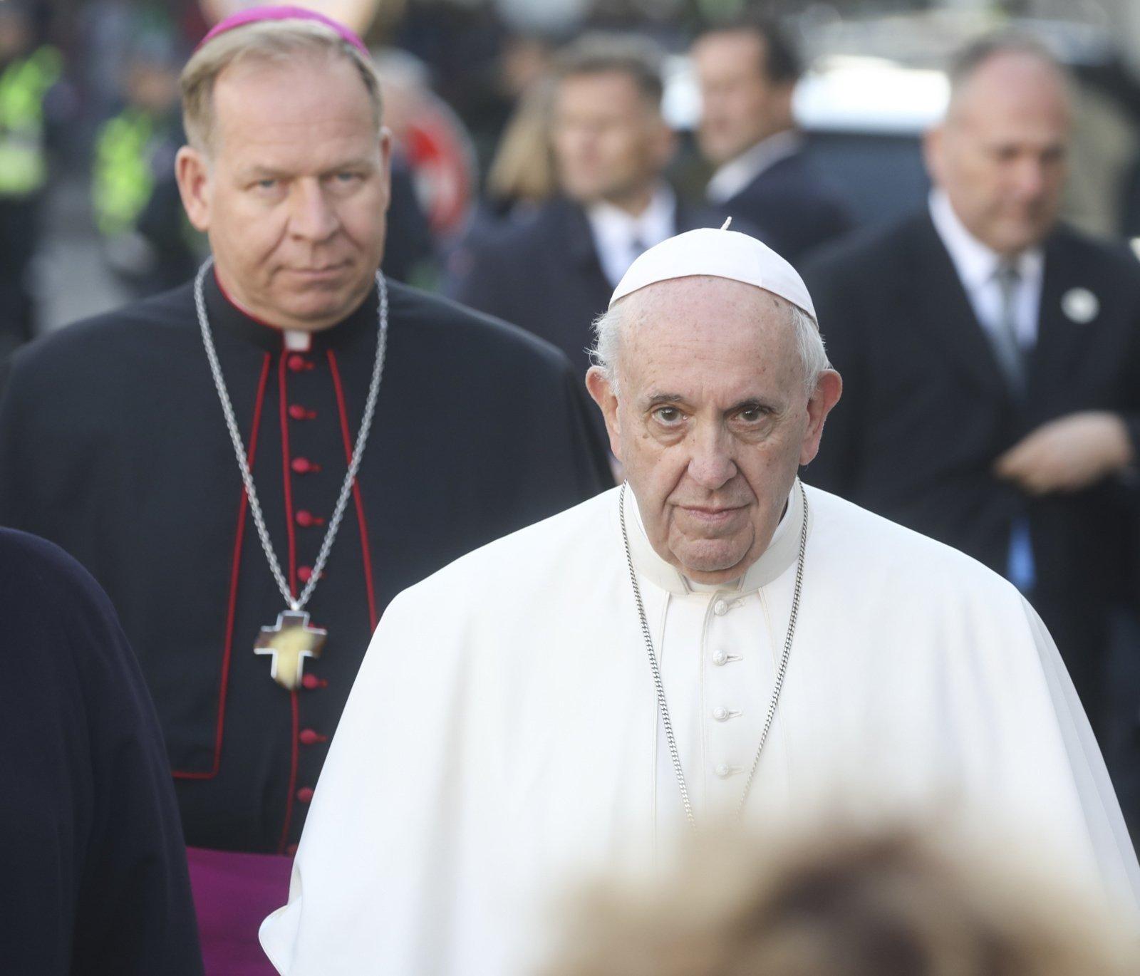 Popiežius gyvai palaimino tikinčiuosius Šv. Petro aikštėje