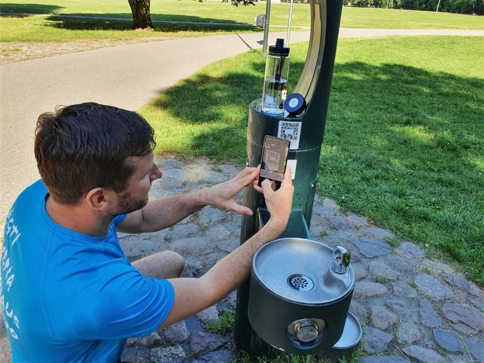 Jau veikia vandens gertuvės viešose Vilniaus miesto erdvėse