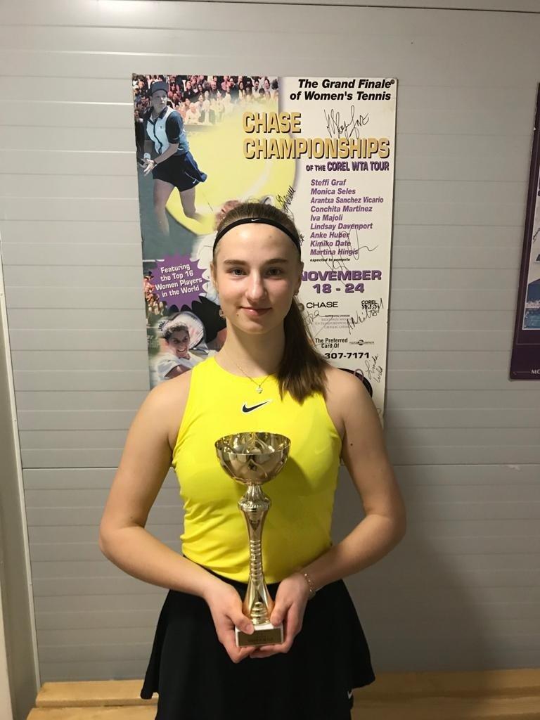 Emilija Tverijonaitė – jaunių turnyro Latvijoje nugalėtoja