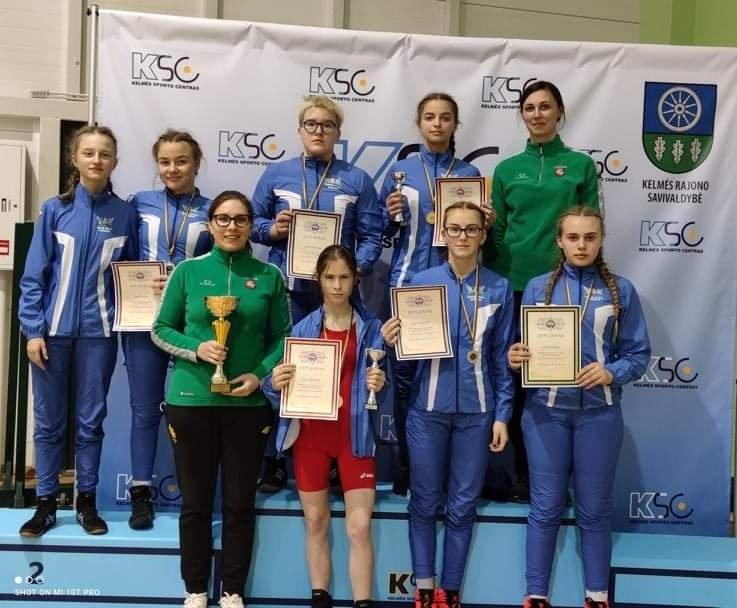 Lietuvos Respublikos U15 moterų imtynių čempionate – Šiaulių rinktinė čempionė