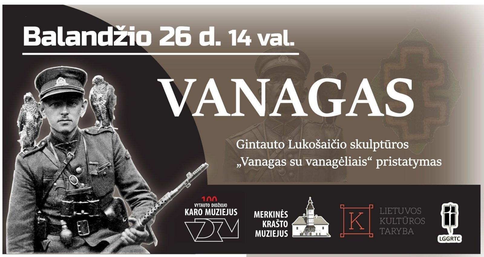 Kaune bus pristatyta skulptūra partizanų vadui A. Ramanauskui-Vanagui