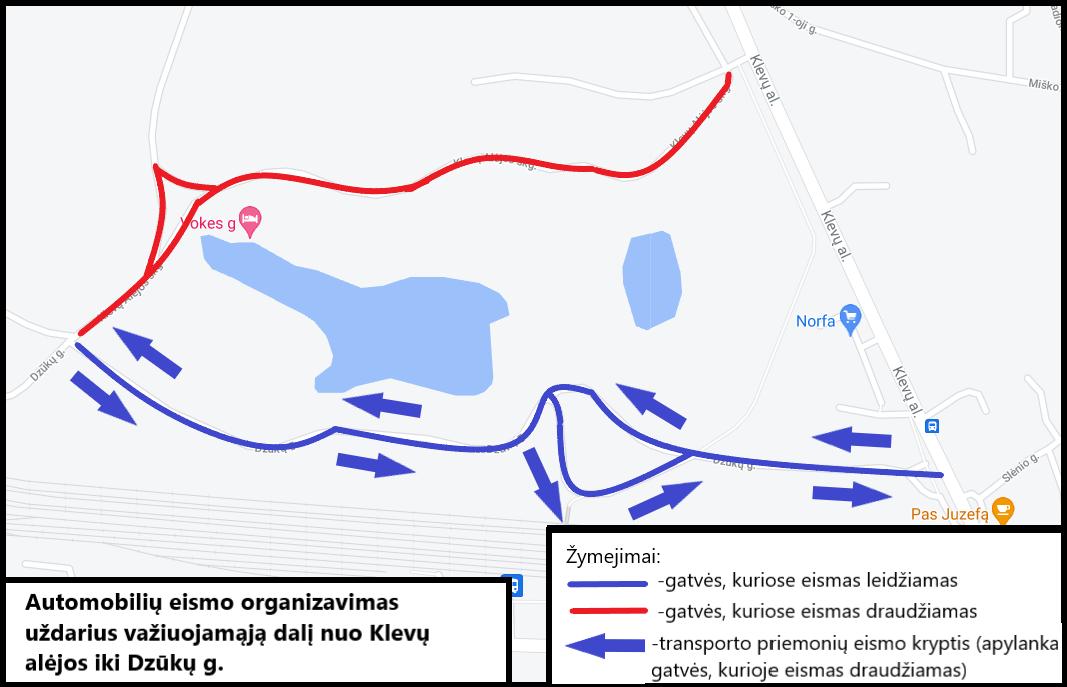Stabdomas eismas Klevų Alėjos skersgatviu Lentvario mieste