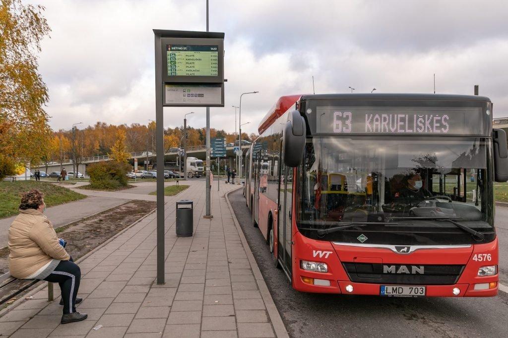 Šį penktadienį ir savaitgalį sostinėje – dažnesni, talpesni autobusai