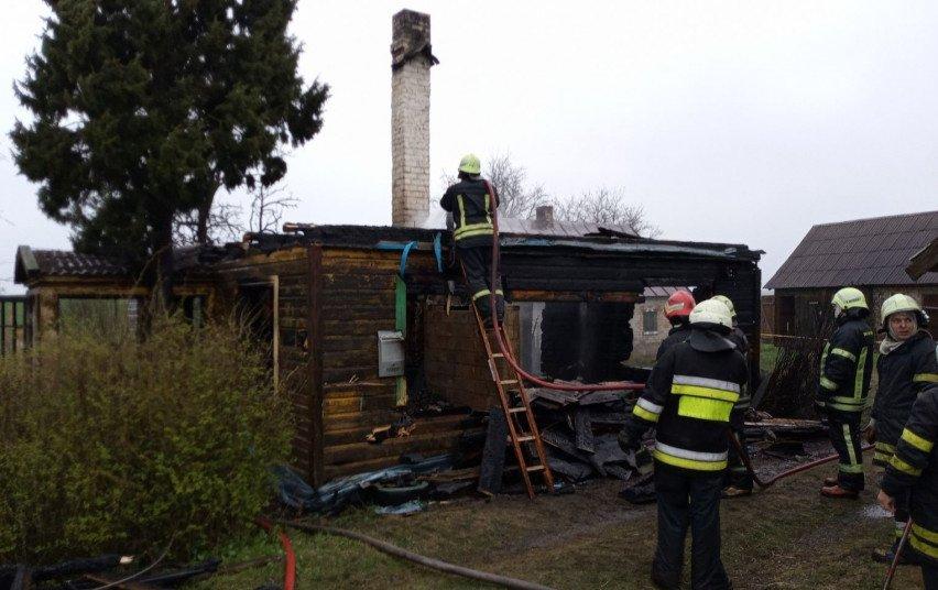 Butrimonyse kilo gaisras: degė namas
