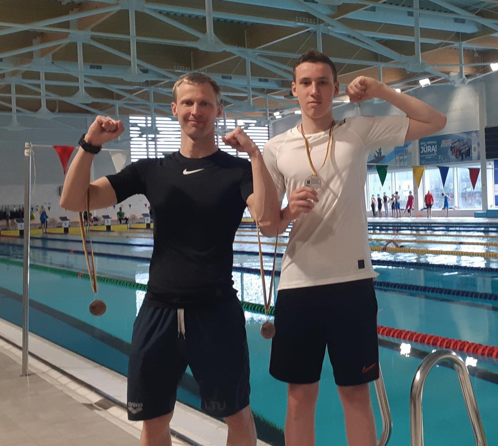 Matas Šurna – vienas stipriausių Lietuvos jaunučių plaukikų