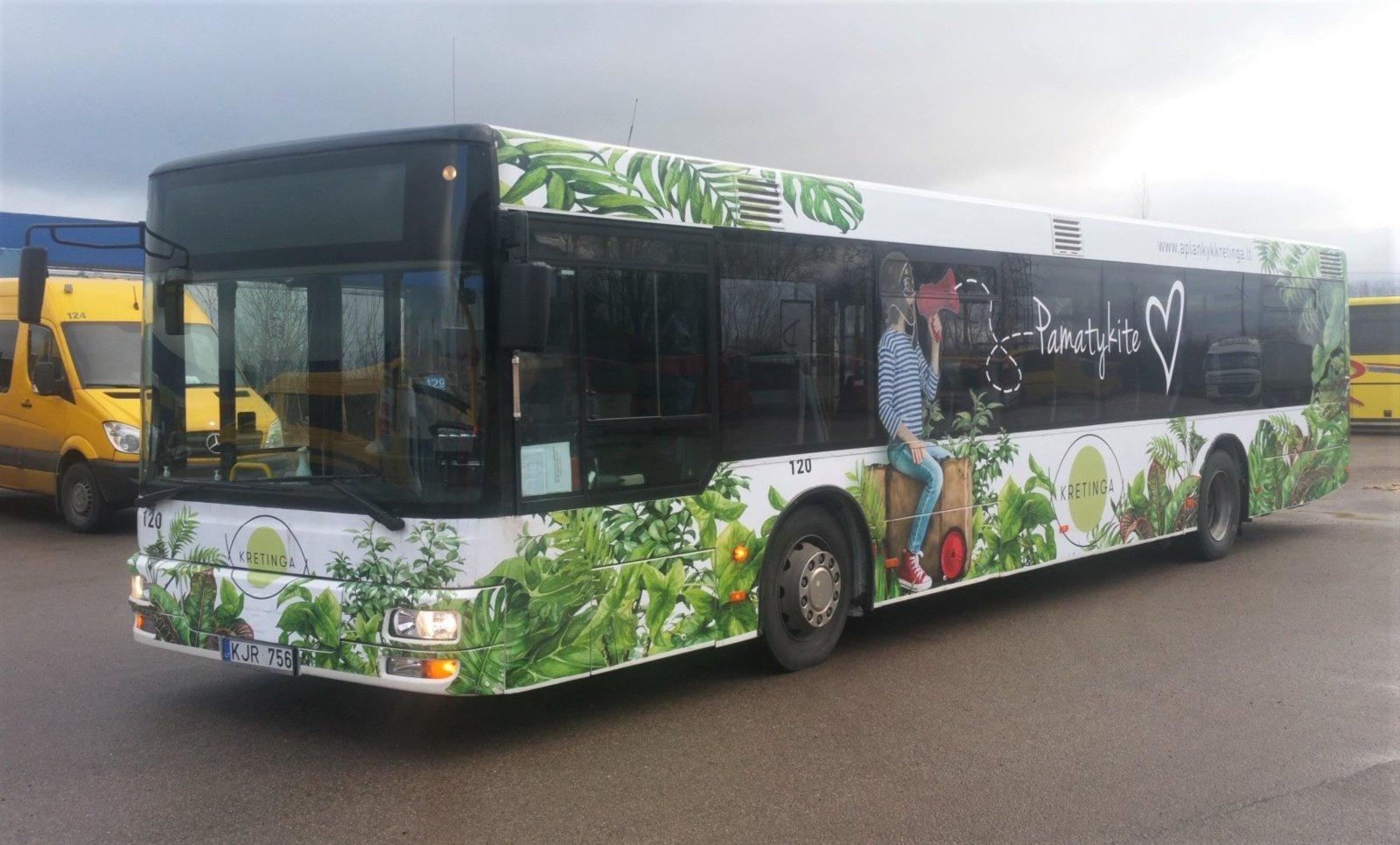 Kretingos mieste nuo gegužės – nemokamas viešasis transportas