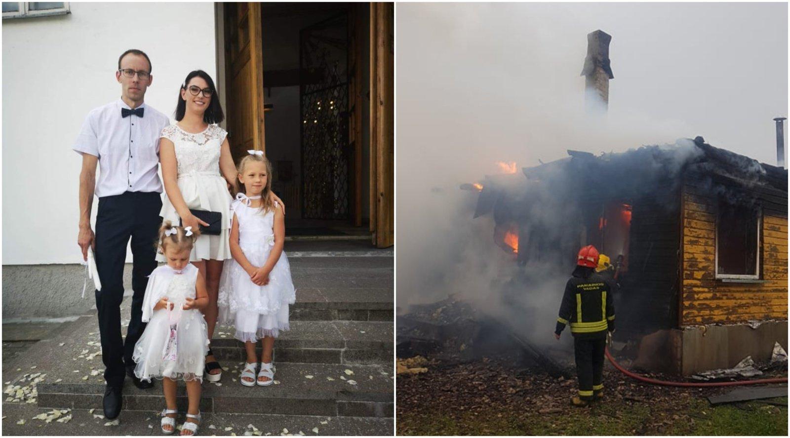 Butrimonyse sudegė šeimos namai: prašo padėti atsitiesti