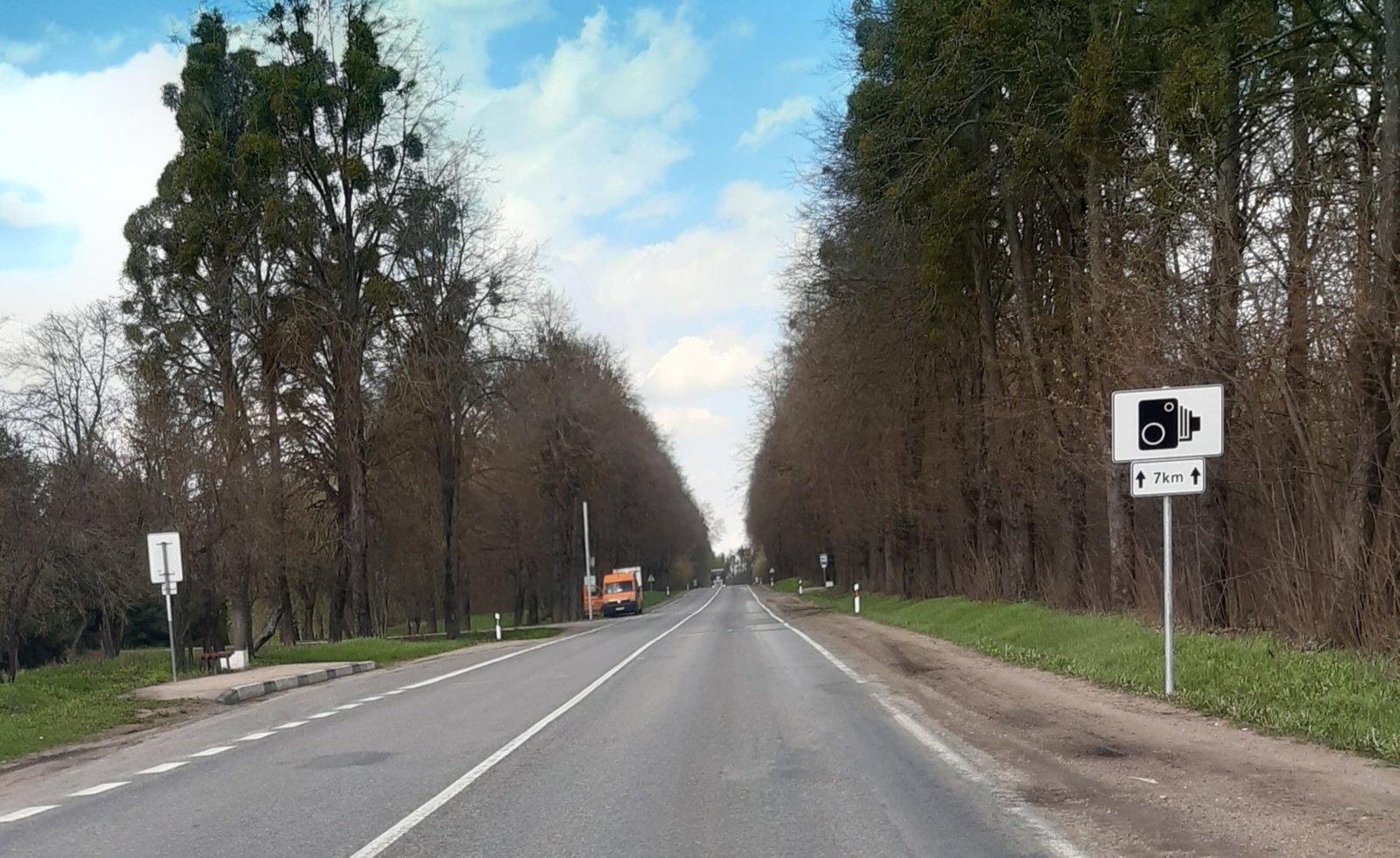 Vairuotojus nuo rizikos lėkti duobėtu keliu sulaikys greičio matuokliai
