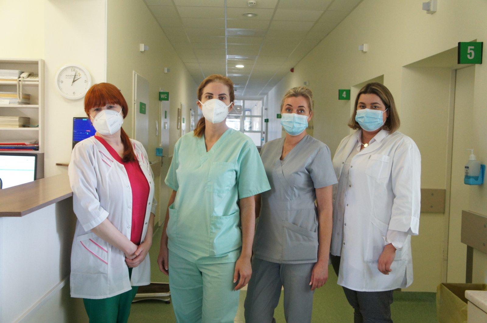 Ligoninės pacientai nuo COVID-19 ligos skiepijami tik sustiprinus sveikatą
