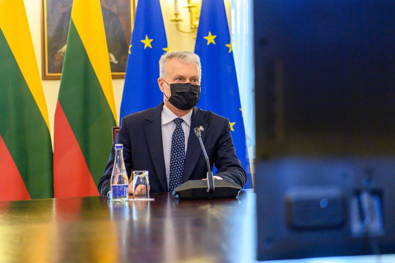 """G. Nausėda: logiška, kad """"žaliasis pasas"""" galiotų tik ES patvirtintoms vakcinoms"""