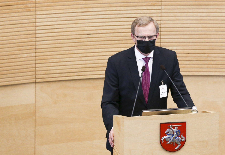 Seimui pristatyta A. Valantino kandidatūra į Aukščiausiojo Teismo teisėjus