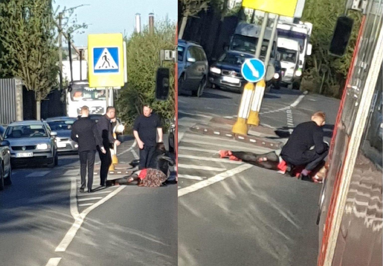 Nelaimė Kaune: automobilis partrenkė per perėją ėjusią moterį