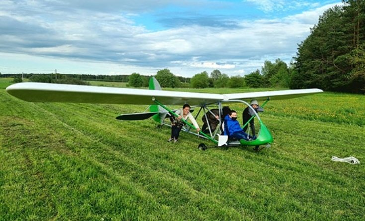 Baisogaloje – vaikų aviacijos skrydžių sezonas