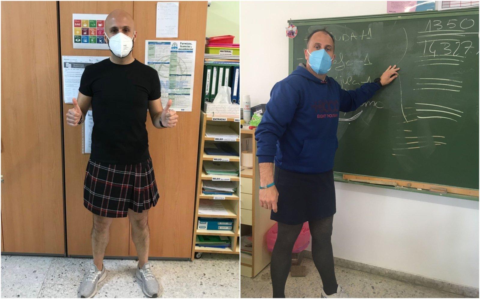 Drabužiai neturi lyties: Ispanijos mokytojai klasėse vilki sijonus