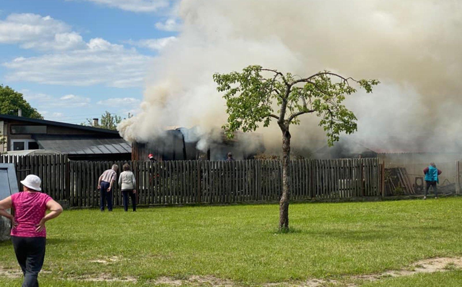 Leipalingyje degė malkinė