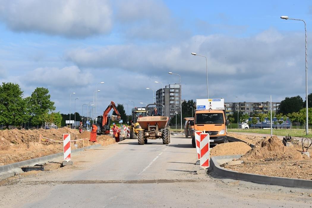 Pavenčių gatvės rekonstrukcijos darbai juda į priekį