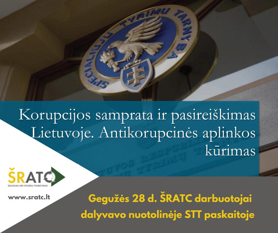 ŠRATC darbuotojai dalyvavo nuotolinėje paskaitoje apie korupciją