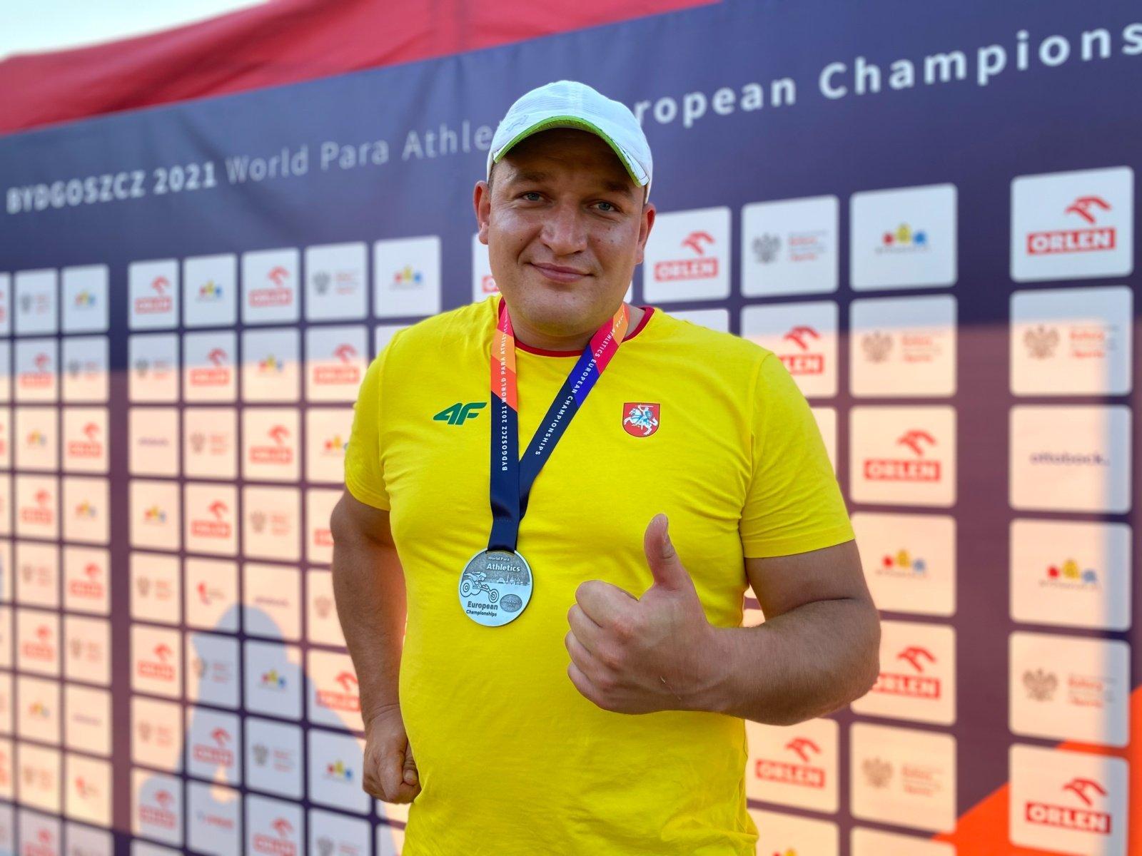 Lengvaatletis Donatas Dundzys – Europos vicečempionas