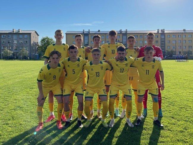 Lietuvos vaikinų iki 19 metų rinktinė laimėjo pirmąją akistatą prieš Estijos bendraamžius
