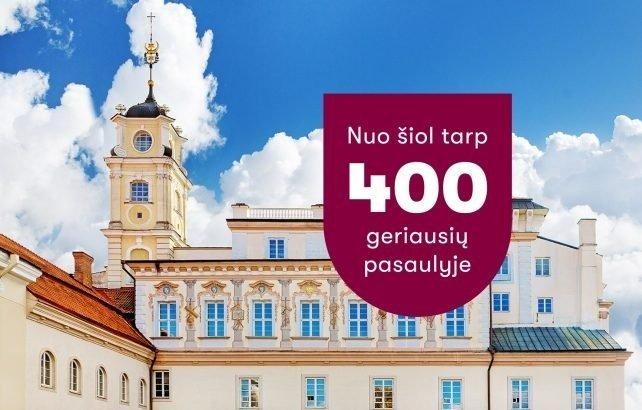 Siunčia žinią būsimiems VU Šiaulių akademijos studentams: Vilniaus universitetas – geriausių pasaulio universitetų 400-uke